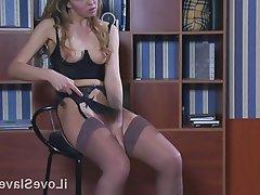 BDSM, Russian, Secretary, Spanking