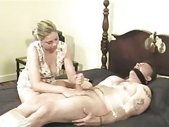 BDSM, Blonde, Blowjob, CFNM