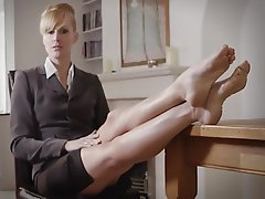 Blonde, Femdom, Foot Fetish, Mistress