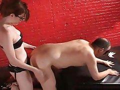 BDSM, Blonde, Femdom, Strapon