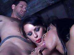BDSM, Handjob, Femdom, Threesome